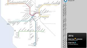 Los Angeles Metrolink Map by Watch The Los Angeles Metro Rail Map U0027s Spectacular Growth From