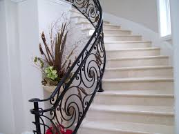 decor u0026 tips cool iron stair railing for curved staircase with