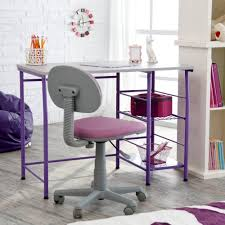 Desk Chair Amazon Com Study Zone Ii Desk U0026 Chair Purple Kitchen U0026 Dining