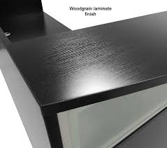 Black Salon Reception Desk Metal Reception Desk Reception Desk Envy Live Edge Curved Metal