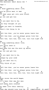 U Got It Bad Lyrics Song Lyrics With Guitar Chords For Tell Him The Exciters