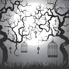 forest halloween drawings u2013 halloween wizard