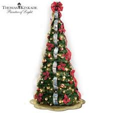 thomas kinkade pre lit pull up christmas tree wondrous winter