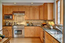 honey maple kitchen cabinets traditional with bamboo floor home