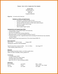 Simple Job Resume Template Sample Resume Letter For Applying Job Example Job Vacancy And Application