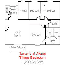 floor plans for bedrooms floor plans and pricing for tuscany aloma apartments