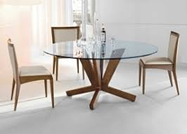 round glass top dining table wood base u2013 foter glass top round