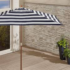 Grey Patio Umbrella Sunbrella Rectangular Market Umbrella Crate And Barrel