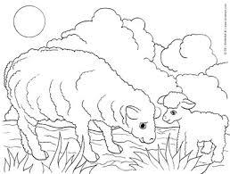 sheep lamb free farm animals coloring pages print