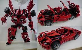 ferrari transformer modeler constructs transformer that turns into a ferrari 599