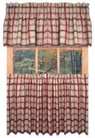 Red Kitchen Curtain by Designer Kitchen Curtains Thecurtainshop Com