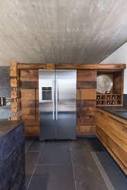 Antike Esszimmer In Eiche Wohnküche Mit Kochblock In Warm Geschmiedetem Stahl Altholz