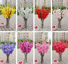gladiolus flower 2018 wholesale 80cm silk gladiolus flower 7 heads sword