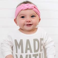 knotted headband knotted turban headband pink baby turban headwrap toddler