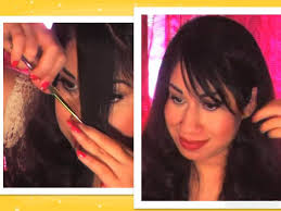 how to cutting bangs in a layered hairstyle how to cut your own wispy side bangs fringe in layers youtube