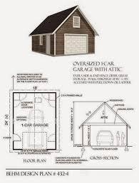 garage plans blog behm design garage plan examples plan 432 4 plan 432 4 oversized 1 car garage with attic 18 x 24