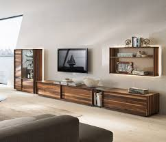 living room large open space room with minimalist wooden wall