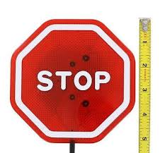 stop sign with led lights garage parking aid flashing stop sign red led light car signal