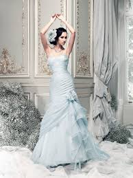 blue wedding dresses coloured wedding dresses from top uk bridal designers