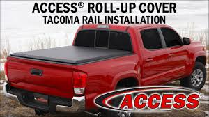 toyota tacoma cover how to install access roll up cover rails on a 2016 toyota tacoma