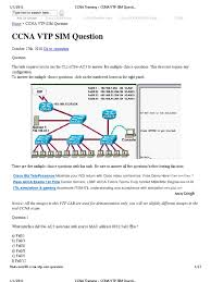 ccna training ccna vtp sim question cisco certifications