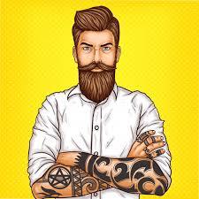 machos vergones fotos gratis vector pop art illustration of a brutal bearded man macho with