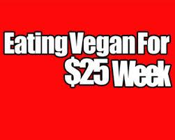 vegan on a budget vegan for 25 a week