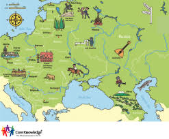 Europe Physical Features Map by Core Knowledge Uk Image Library Year Four