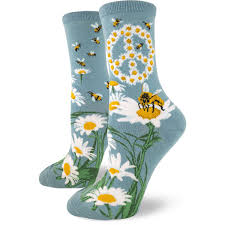 bee socks s socks with bees peace signs modsock
