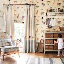 Jungle Curtains For Nursery S L1000 Baby Room Curtain Forest Friends Woodland Animal Owlfox