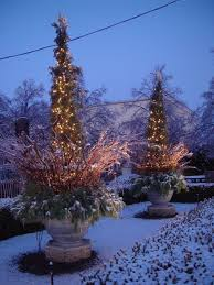 Christmas Decorations For Outdoor Containers by 1052 Best Christmas U0026 Winter Pots Images On Pinterest Christmas