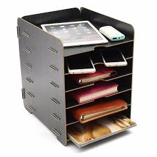 file and storage cabinets office supplies 6 layers desktop wooden shelf for office supplies stationery a4