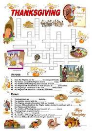 123 free esl thanksgiving worksheets