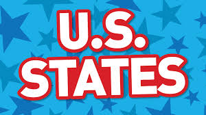 Kids Map Of The United States by U S States