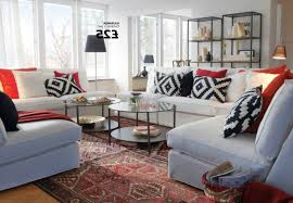 ikea living room designs black painted wall round white striped