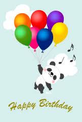 free rabbit and panda birthday cake image free cartoon u0026 clipart