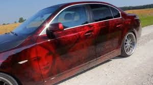 best car paint bmw 5 serie candy red youtube
