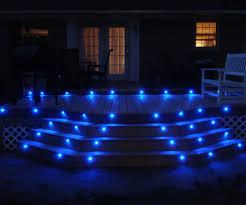 blue led deck lights 3 steps
