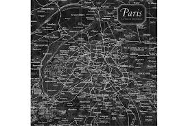 Black And White Map Picture Vintage Map Paris Living Spaces
