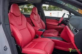 white bentley interior pearl white tesla model x bentley red custom interior