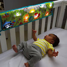 baby crib lights toys woodland friends twinkling lights crib rail soother cdn49 fisher