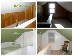 painting over wood paneling before and after painted wood