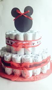 2 tiered minnie mouse diaper cake u2014 the candy cane lady