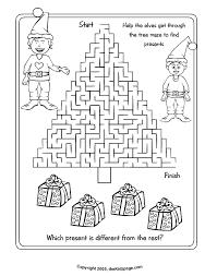 christmas activity sheets printables coloring