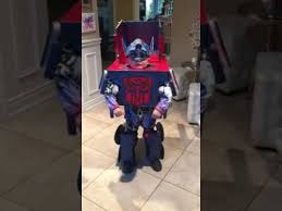the coolest halloween costume optimus prime transform youtube