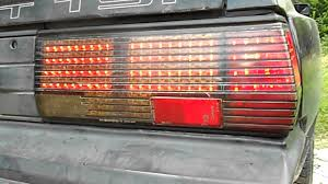 chrysler conquest 1987 1989 conquest led taillights youtube