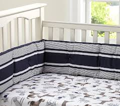 puppy crib fitted sheet navy pottery barn kids