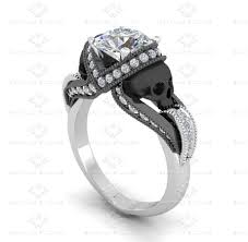 skull wedding ring sets sapphire studios 1 60ct diamond skull white gold engagement ring