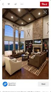 High Ceiling Living Room by Living Tall Ceiling With Texture And Lighting Lots Of Windows
