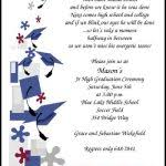 8th grade graduation invitations 8th grade middle school jr high graduation wording saying verses